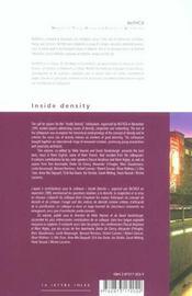 Inside Density Francais/Anglais - 4ème de couverture - Format classique