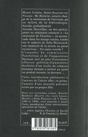 Meurtre chez Colette - 4ème de couverture - Format classique