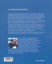 Le pilotage des hélicoptères - 4ème de couverture - Format classique