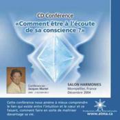 Comment Etre Ecoute Conscience - Cd - Couverture - Format classique