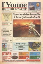 Yonne Republicaine (L') N°164 du 18/07/2001 - Couverture - Format classique