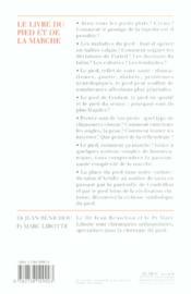 Le Livre Du Pied Et De La Marche - 4ème de couverture - Format classique