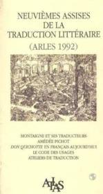 Actes Des 9eme Assises De La Traduction Lit - Couverture - Format classique