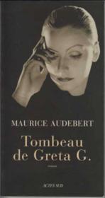 Tombeau De Greta G. - Couverture - Format classique