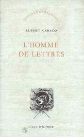 L'Homme De Lettres - Couverture - Format classique