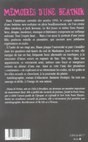 Memoires d'une beatnik - 4ème de couverture - Format classique