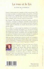 La Rose Et Le Lys - 4ème de couverture - Format classique