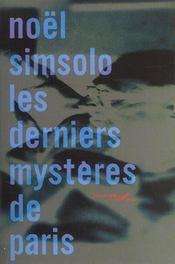 Les Derniers Mysteres De Paris - Intérieur - Format classique
