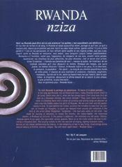 Rwanda nziza - 4ème de couverture - Format classique