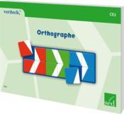 Orthographe ; CE2 - Couverture - Format classique