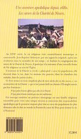 Une aventure apostolique ; les soeurs de la charité de Nevers depuis 1680 - 4ème de couverture - Format classique