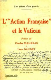 L'Action Francaise Et Le Vatican. - Couverture - Format classique