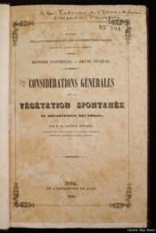 Considérations générales sur la végétation spontanée du départemebnt des Vosges - Couverture - Format classique