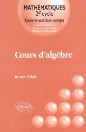 Cours D'Algebre - Intérieur - Format classique