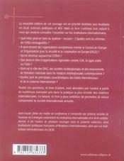 Institutions internationales (4e édition) - 4ème de couverture - Format classique