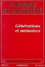 Generations Et Memoires - Couverture - Format classique