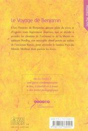 Le Voyage De Benjamin - 4ème de couverture - Format classique