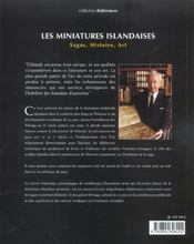Les Miniatures Islandaises ; Sagas, Histoire, Art - 4ème de couverture - Format classique
