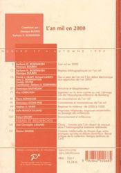 An Mil En 2000 (L ) - 4ème de couverture - Format classique