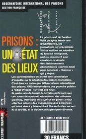 Prisons : Un Etat Des Lieux - 4ème de couverture - Format classique