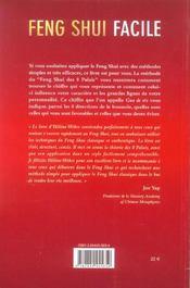 Feng Shui Facile Avec La Methode Des 8 Palais - 4ème de couverture - Format classique