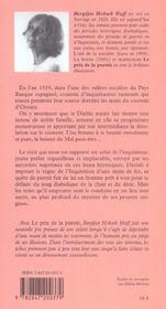 Le Prix De La Purete - 4ème de couverture - Format classique