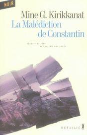 La Malediction De Constantin - Intérieur - Format classique