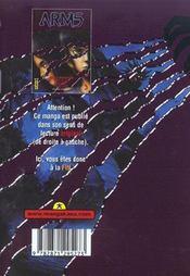 Arms t.3 - 4ème de couverture - Format classique