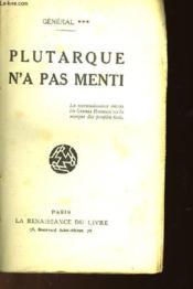 Plutarque N'A Pas Menti - Couverture - Format classique