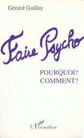 Faire Psycho ; Pourquoi Comment - Intérieur - Format classique