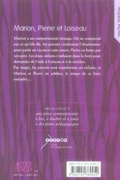 Marion, Pierre et Loiseau - 4ème de couverture - Format classique