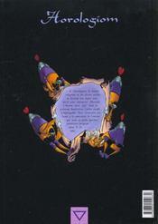 Horologiom t.2 ; l'instant du damokle - 4ème de couverture - Format classique