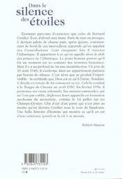 Dans Le Silence Des Etoiles - 4ème de couverture - Format classique