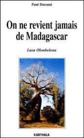 On ne revient jamais de Madagascar - Couverture - Format classique