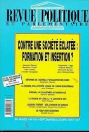 Revue Politique Et Parlementaire-Contre Societe Eclatee - Couverture - Format classique
