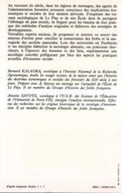 Foret Pacifiee: Forestiers De L'Ecole De Le Play... - 4ème de couverture - Format classique