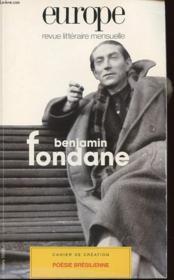 Europe Benjamin Fondane N827 - Couverture - Format classique