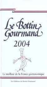 Le Bottin Gourmand 2004 - Intérieur - Format classique