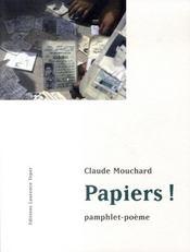 Papiers ! pamphlet-poème - Intérieur - Format classique