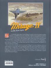 Mirage IV ; la fin d'un règne - 4ème de couverture - Format classique