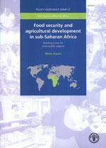 Food security agricultural developmentin subsaharan africa building a case for more public support m - Couverture - Format classique