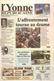 Yonne Republicaine (L') N°167 du 21/07/2001 - Couverture - Format classique