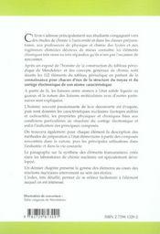 Les Constituants Chimiques De La Matiere Description Des Elements - 4ème de couverture - Format classique