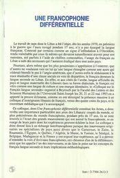 Une Francophonie Differentielle - 4ème de couverture - Format classique