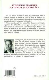 Hommes Du Maghreb Et Images Ensoleillees - 4ème de couverture - Format classique