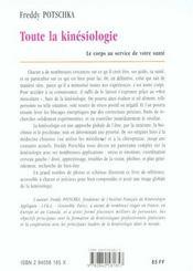 Toute la kinesiologie ; 2e edition - 4ème de couverture - Format classique