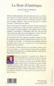 La Fleur D'Amerique - 4ème de couverture - Format classique