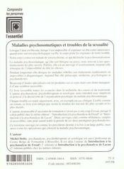 Maladies Psychosomatiques Et Troubles De La Sexualite - 4ème de couverture - Format classique
