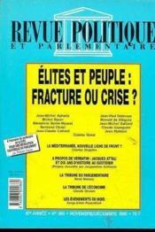 Revue Politique Parlementaire 980 Elites & Peuple - Couverture - Format classique