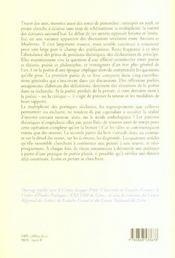 Poetiques Poesies Contemporaines - 4ème de couverture - Format classique